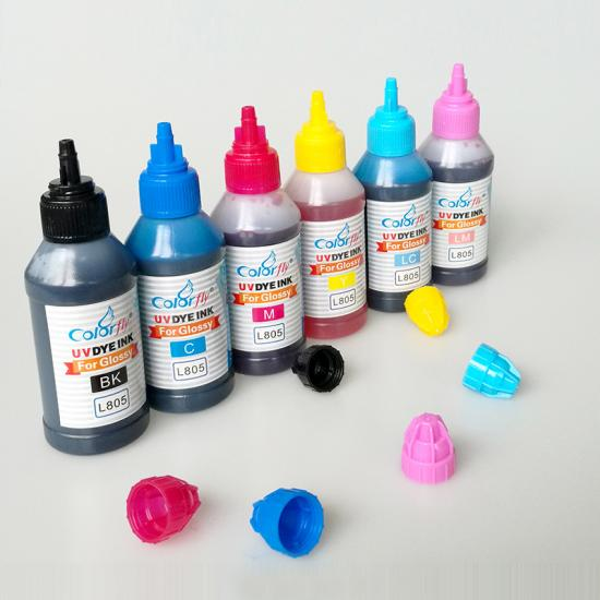 High quality photographic glossy UV dye ink