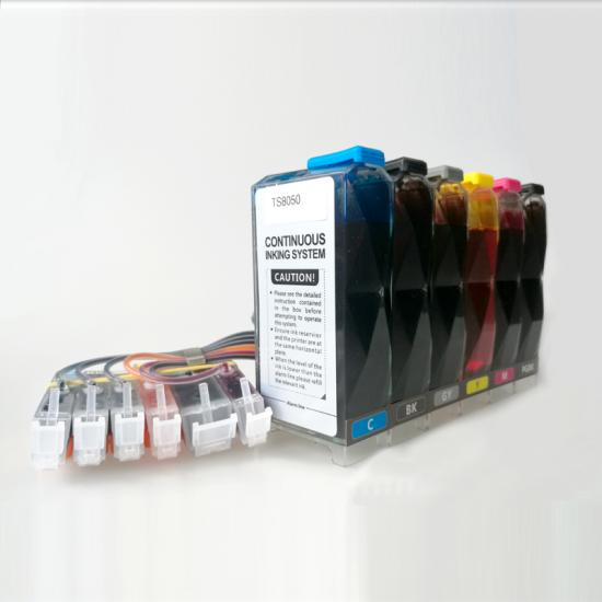 Continuous ink supply system( CISS) for Canon TS8050/TS8010/TS8020/TS8030/TS8040/TS8060/TS8070/TS8090 desktop inkjet printer