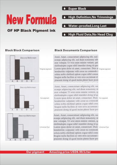 HP black pigment ink with competitive price